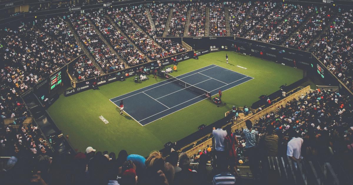 Teniszmeccs, felülről.