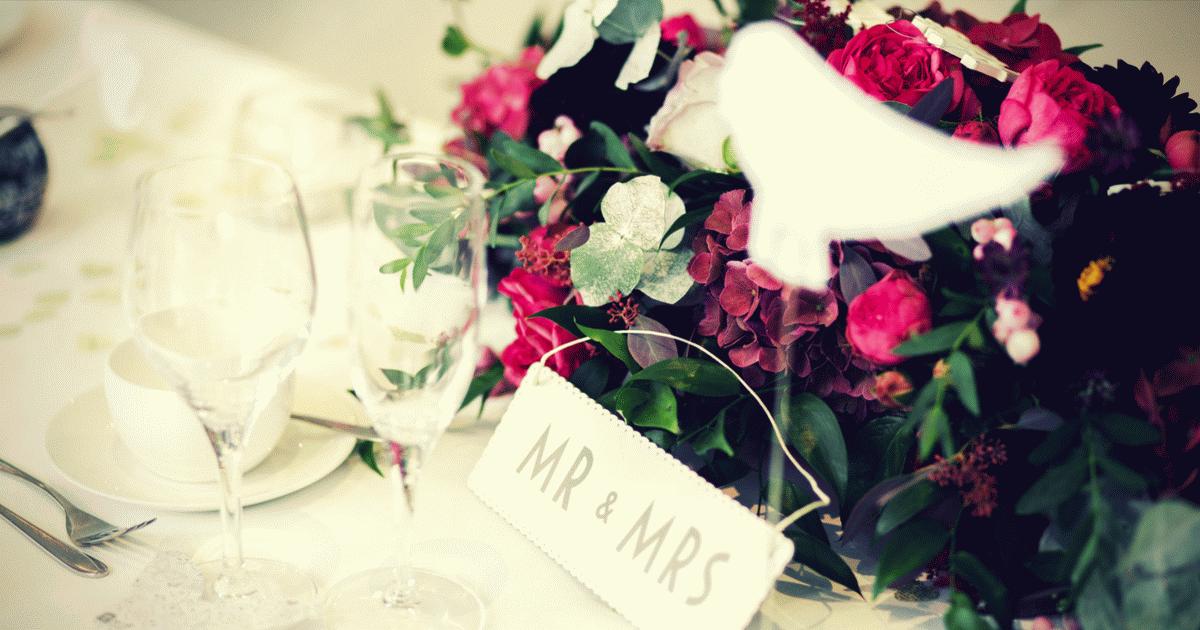 Esküvői főasztal.